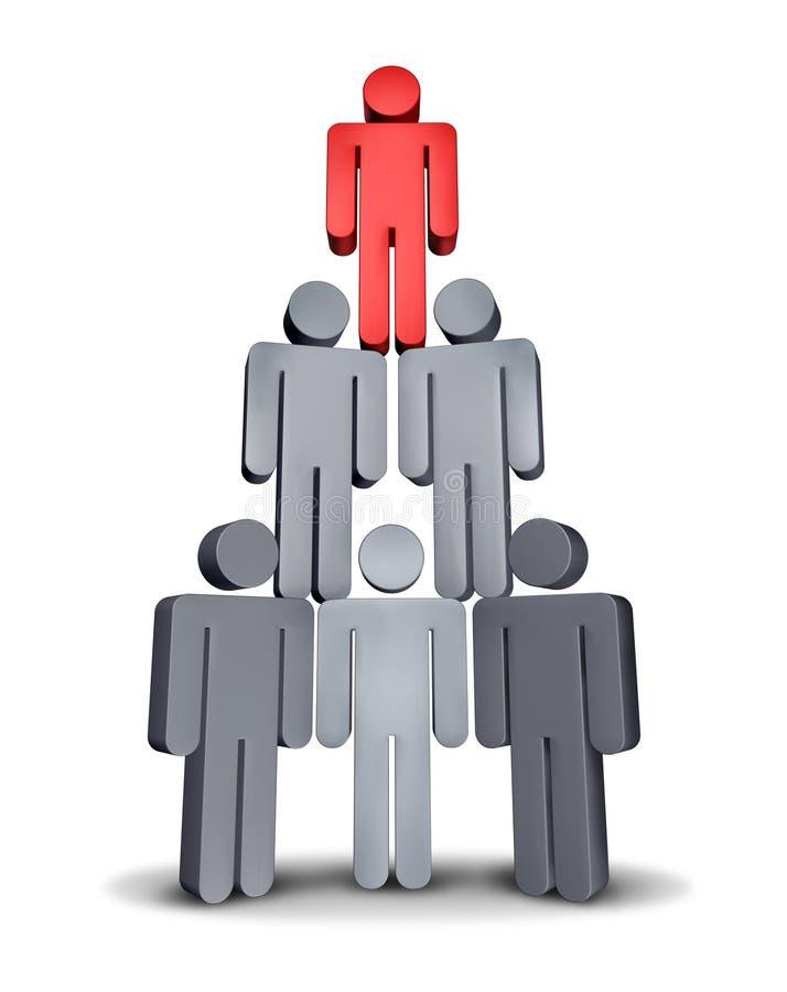 hierarchia biznesowy ostrosłup royalty ilustracja