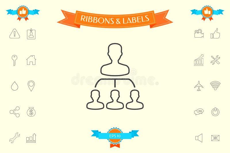 Hierarchia - kreskowa ikona ilustracja wektor
