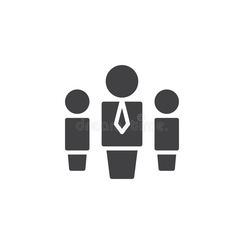 Hierarchia systemu wektoru ikona ilustracji