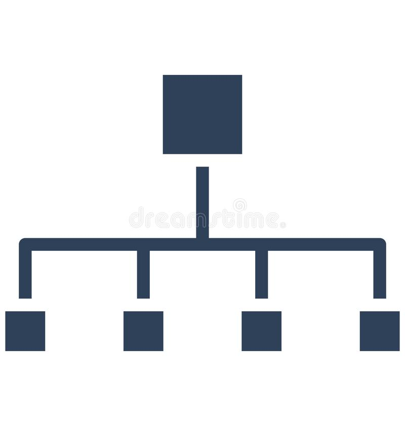 Hierarchical network, hierarchical structure Isolated Vector Icon That can be easily edited in any size or modified. vector illustration