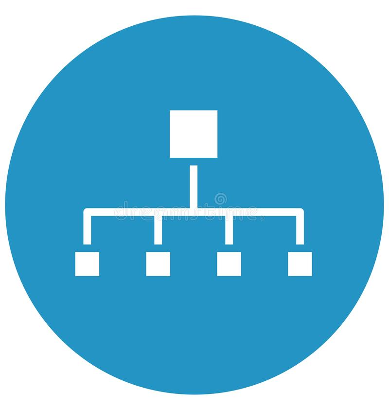 Hierarchical network, hierarchical structure Isolated Vector Icon That can be easily edited in any size or modified. Hierarchical royalty free illustration