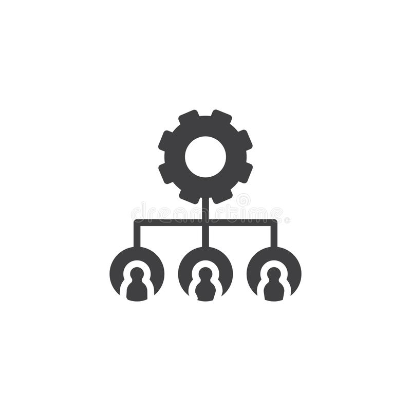 Hierarchical structure gear vector icon vector illustration