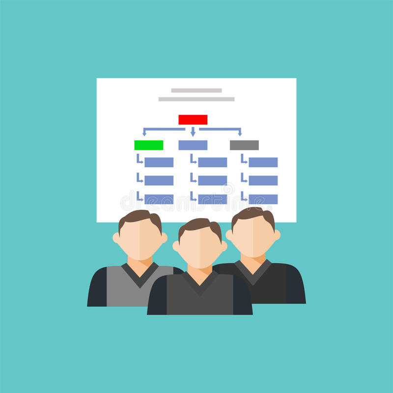 Hierarchical-structure icon. Department team diagram structure. Department team diagram structure. Hierarchical-structure icon royalty free illustration