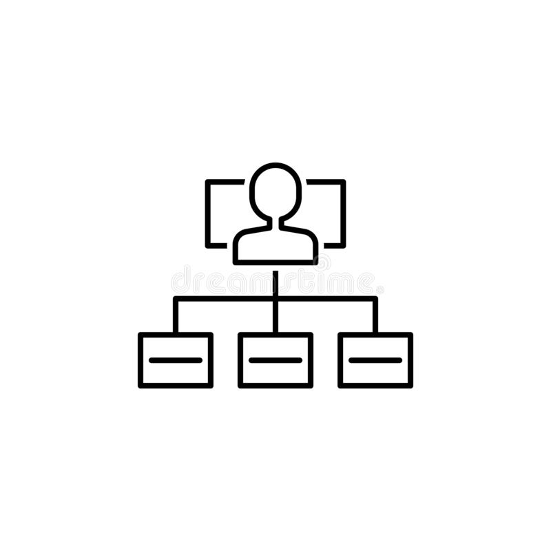 Hierarchical structure icon. Element of interview icon vector illustration