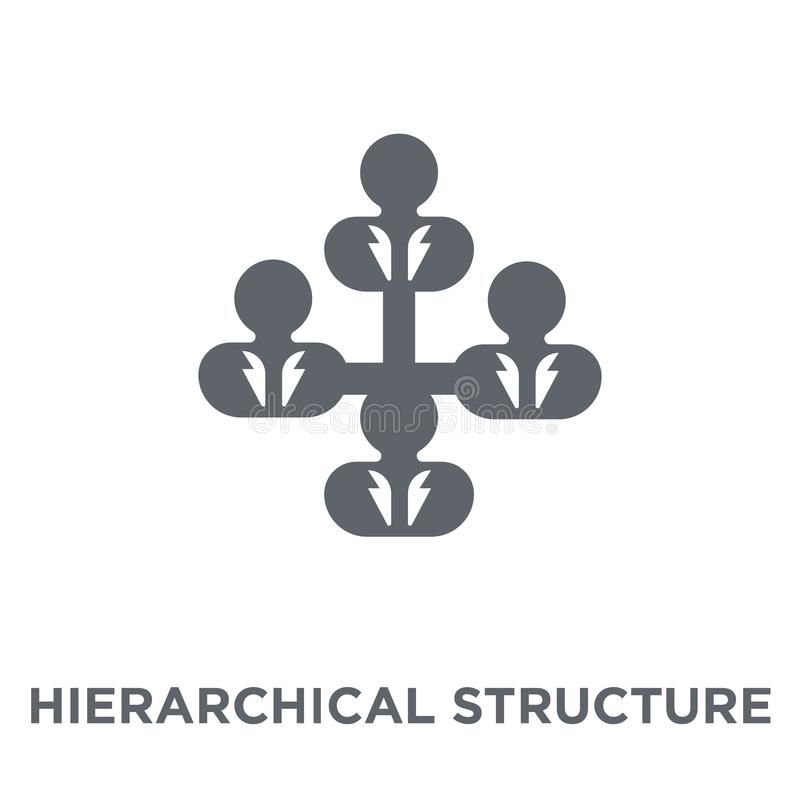 Hierarchical structure icon from Human resources collection. Hierarchical structure icon. Hierarchical structure design concept from Human resources collection stock illustration