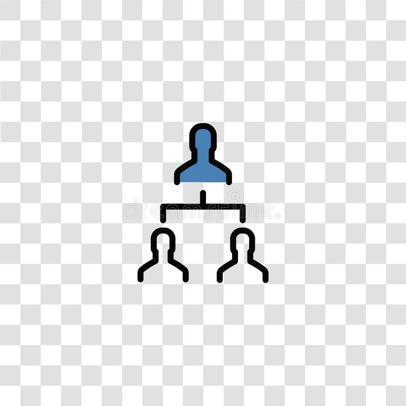 Hierarchical structure icon sign and symbol. hierarchical structure color icon for website design and mobile app development. Simple Element from business set stock illustration