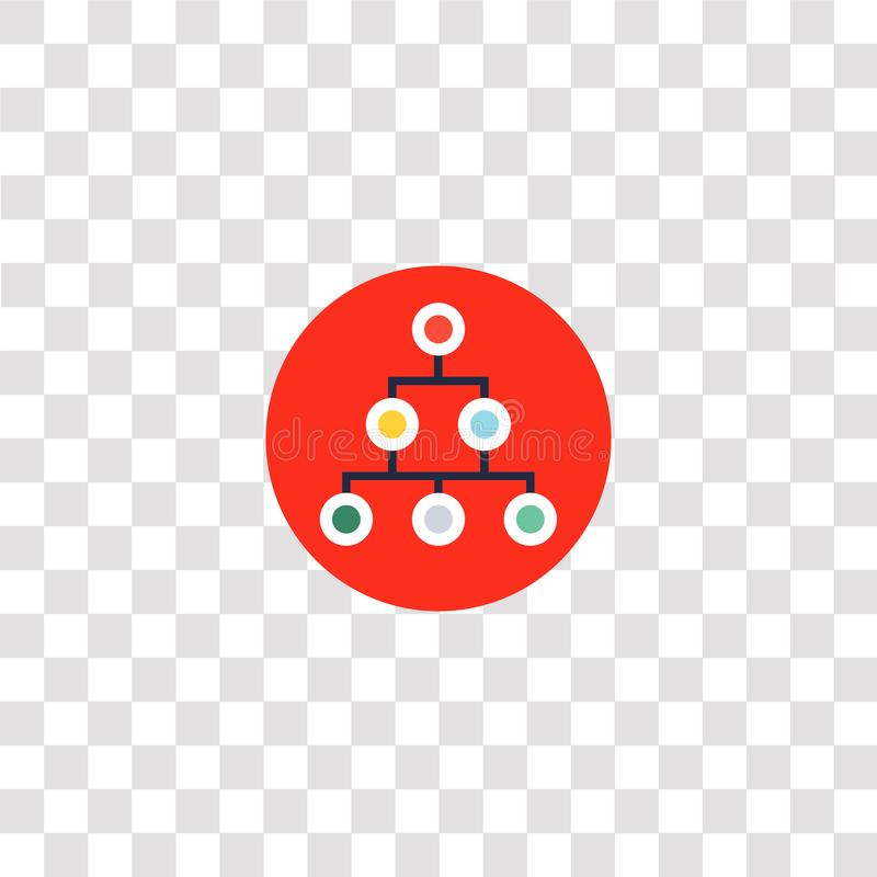 Hierarchical structure icon sign and symbol. hierarchical structure color icon for website design and mobile app development. Simple Element from teamwork and vector illustration