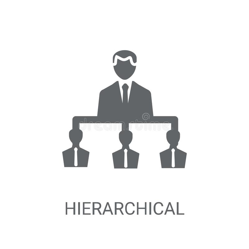 Hierarchical structure icon. Trendy Hierarchical structure logo vector illustration