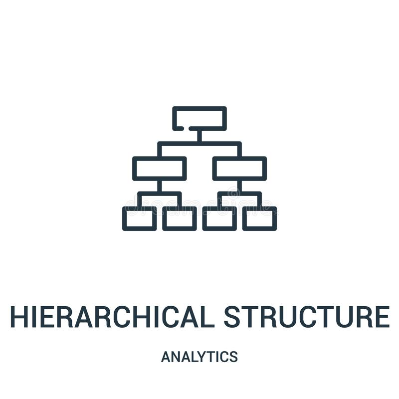 Hierarchical structure icon vector from analytics collection. Thin line hierarchical structure outline icon vector illustration. Linear symbol for use on web vector illustration