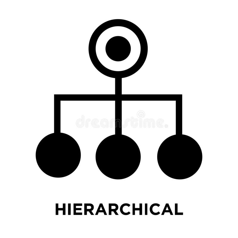 Hierarchical structure icon vector isolated on white background, logo concept of Hierarchical structure sign on transparent. Background, filled black symbol vector illustration
