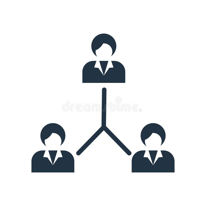 Hierarchical structure icon vector isolated on white background, Hierarchical structure sign vector illustration