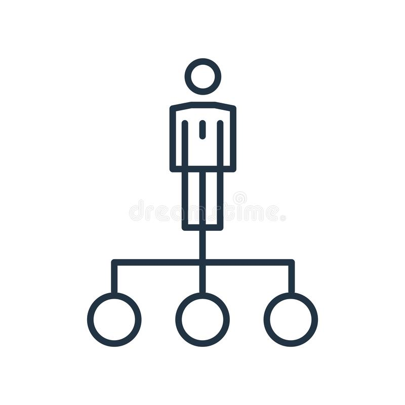 Hierarchical structure icon vector isolated on white background, Hierarchical structure sign. Hierarchical structure icon vector isolated on white background vector illustration