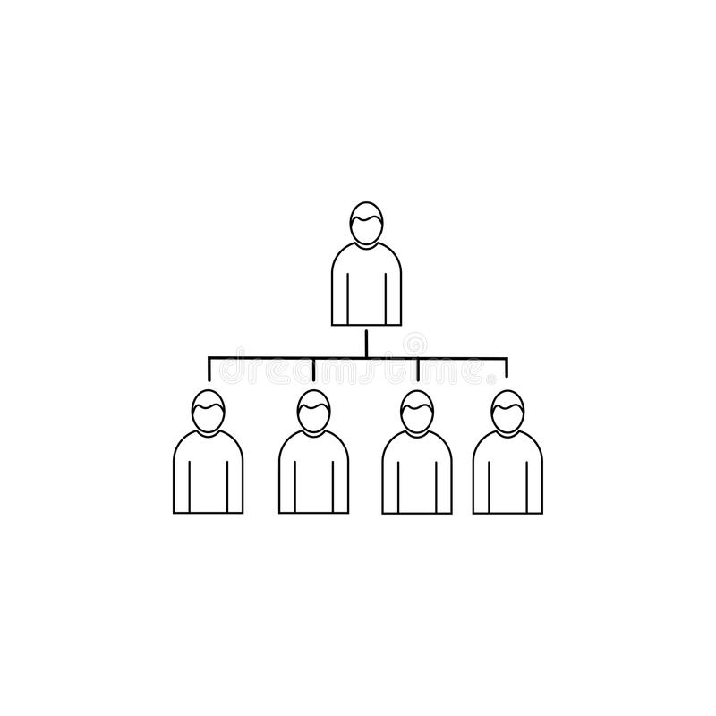 Hierarchical structure linear vector icon royalty free illustration