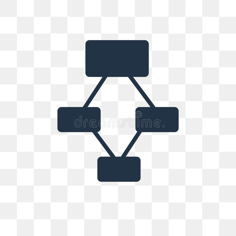 Hierarchical structure vector icon isolated on transparent background, Hierarchical structure transparency concept can be used w vector illustration