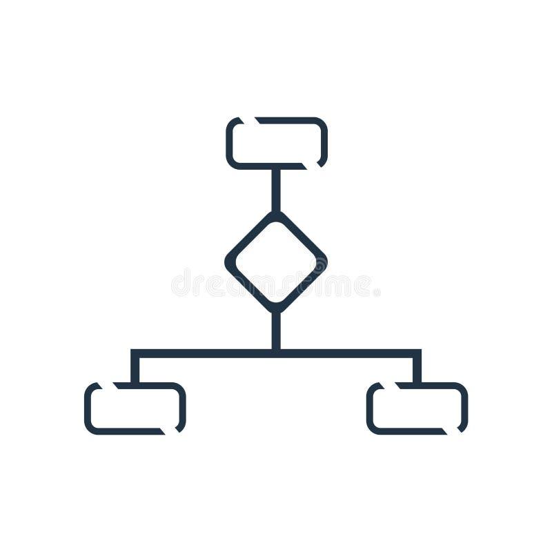 Hierarchical struktury ikony wektor odizolowywający na białym tle, Hierarchical struktury znak royalty ilustracja