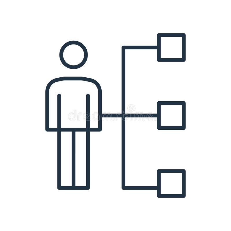 Hierarchical struktury ikony wektor odizolowywający na białym tle, Hierarchical struktury znak ilustracji