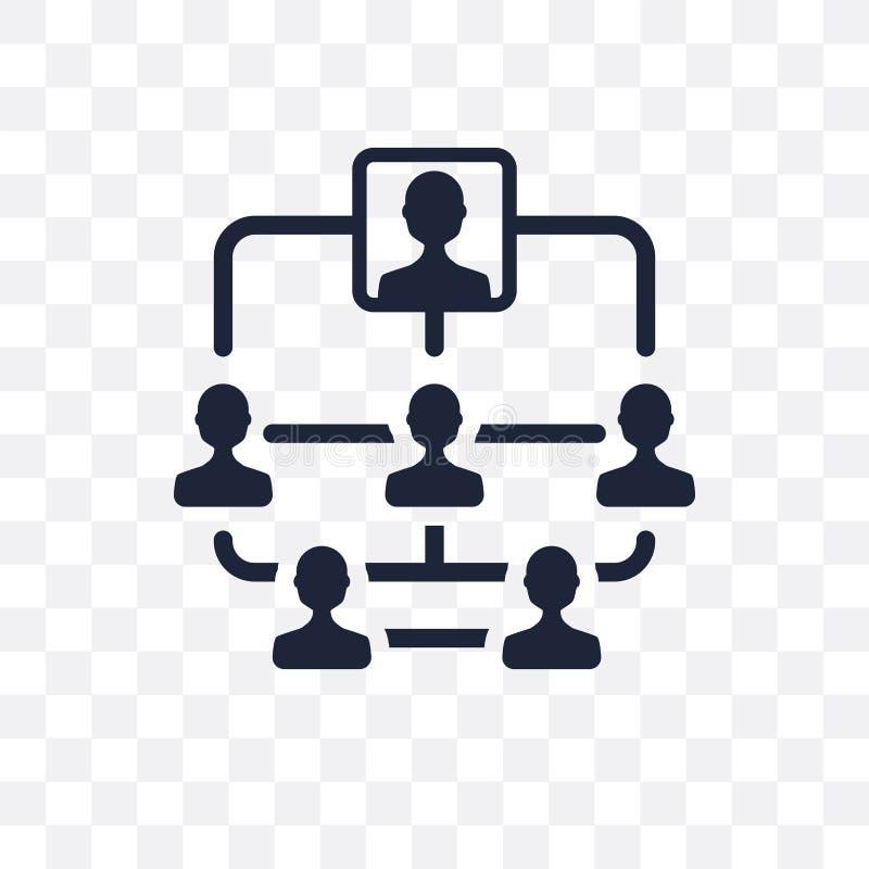 Hierarchical struktury przejrzysta ikona Hierarchical struktura ilustracji