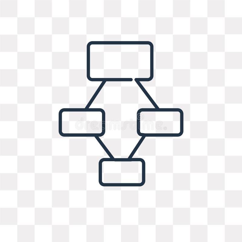 Hierarchical struktury wektorowa ikona odizolowywająca na przejrzystym backg ilustracja wektor