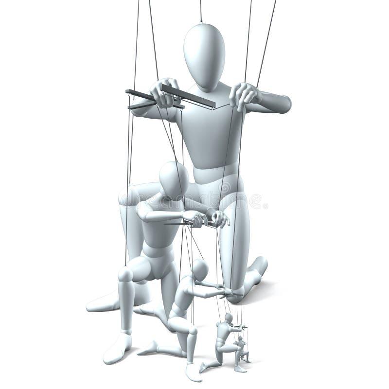 Hierarchie, Chefs, Arbeitskräfte stock abbildung