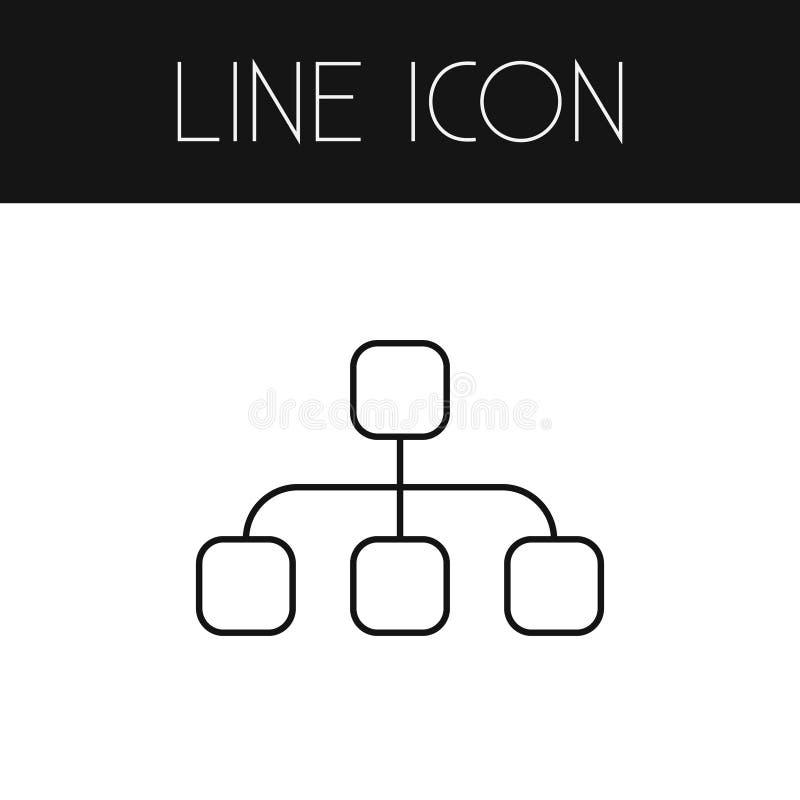 Hierarchie-Entwurf Struktur-Vektor-Element kann für Hierarchie, Struktur, vorbildliches Design Concept benutzt werden stock abbildung
