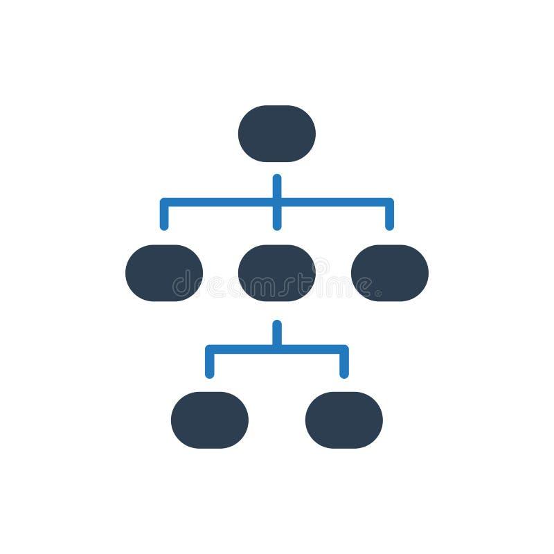 Hierarchie-Struktur-Ikone vektor abbildung