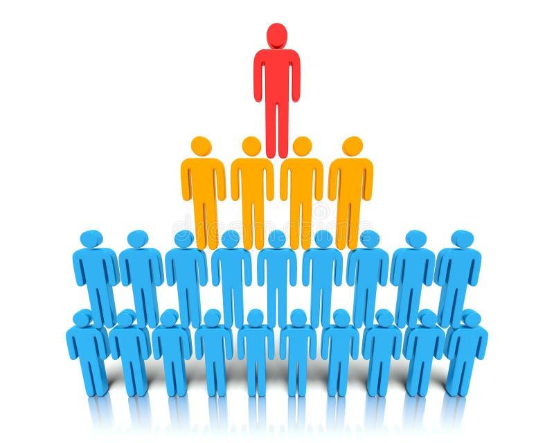 Hierarchie Von Leuten. Stockbild