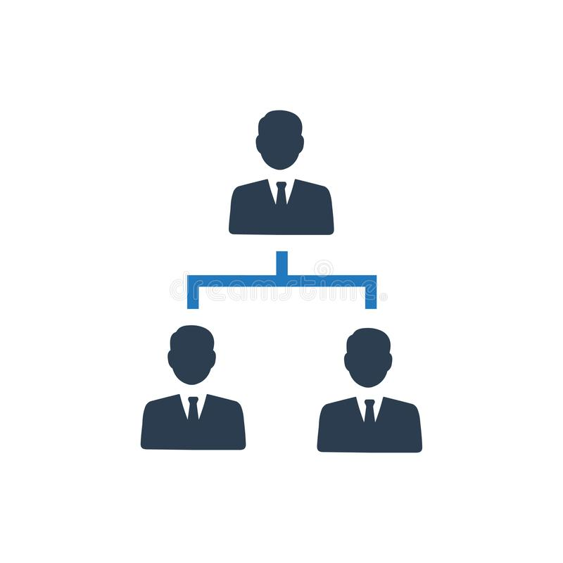 Hierarchieikone stock abbildung