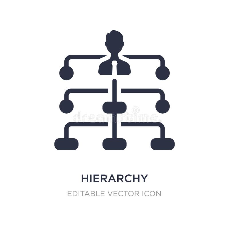 Hierarchiestrukturikone auf weißem Hintergrund Einfache Elementillustration vom Geschäftskonzept lizenzfreie abbildung