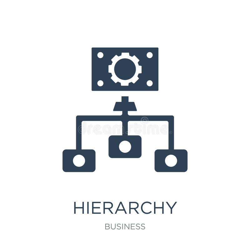 Hierarchiestrukturikone in der modischen Entwurfsart Hierarchiestrukturikone lokalisiert auf weißem Hintergrund Hierarchiestruktu lizenzfreie abbildung