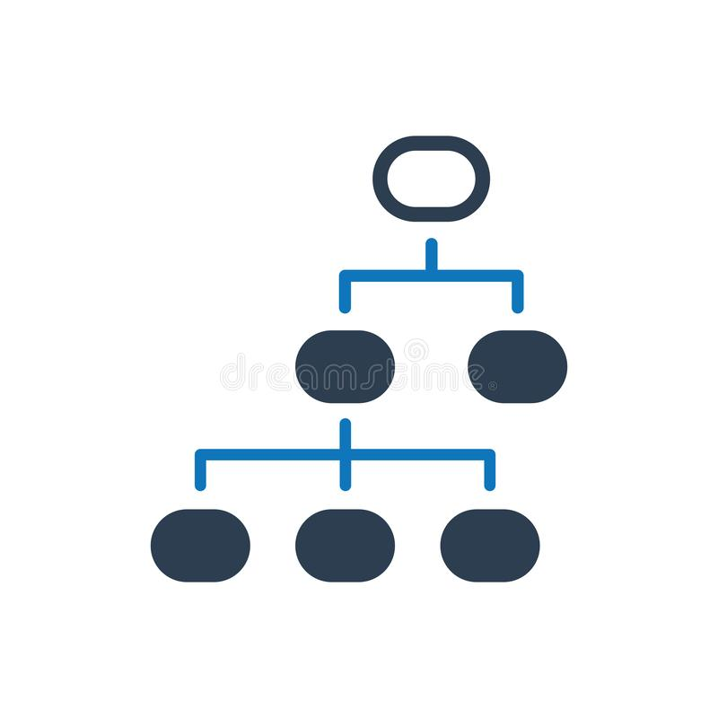 Hierarchievektorikone vektor abbildung