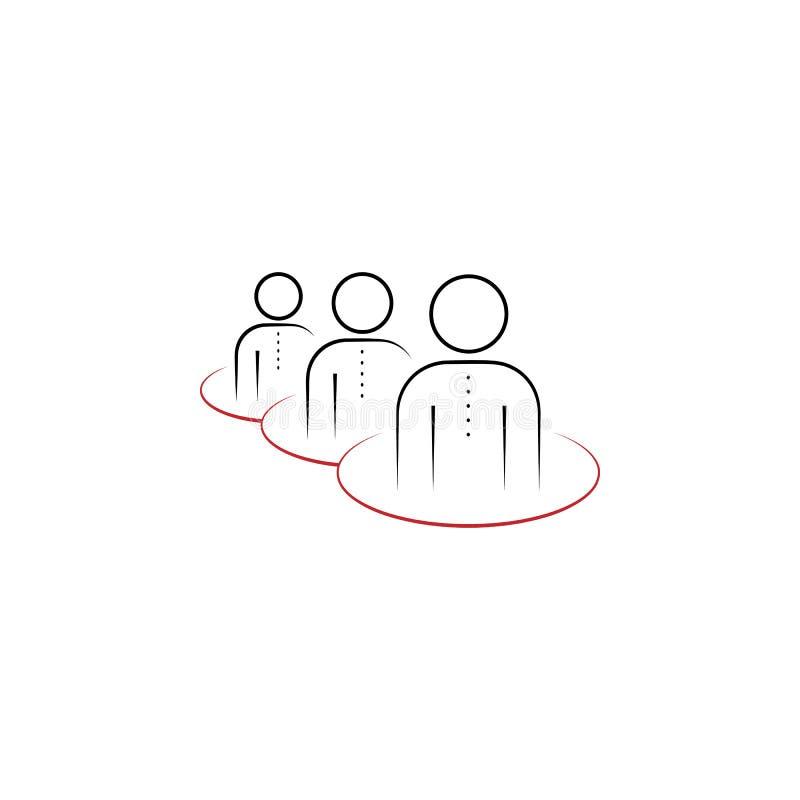 hierarchii 2 barwiąca ręka rysująca ikona Drużyna elementu barwiona ilustracja Konturu symbolu projekt od drużynowego praca setu ilustracja wektor
