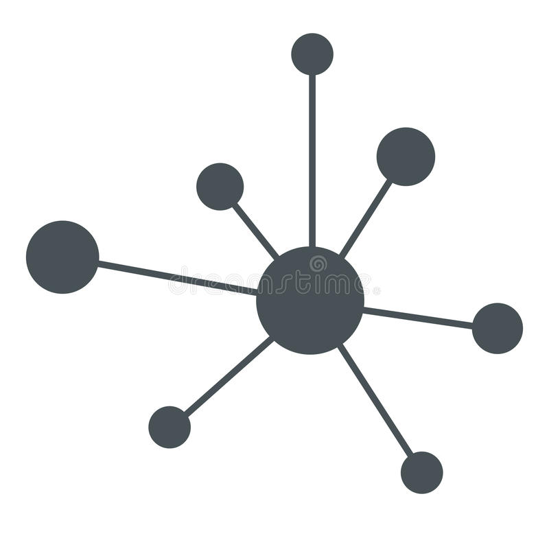Hierarchii ikony sieci znak royalty ilustracja