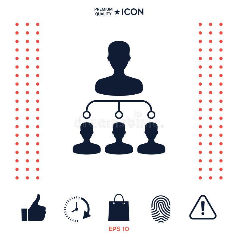 Hierarchii ikony symbol ilustracji