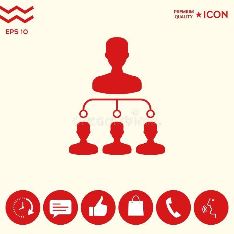 Hierarchii ikony symbol ilustracja wektor
