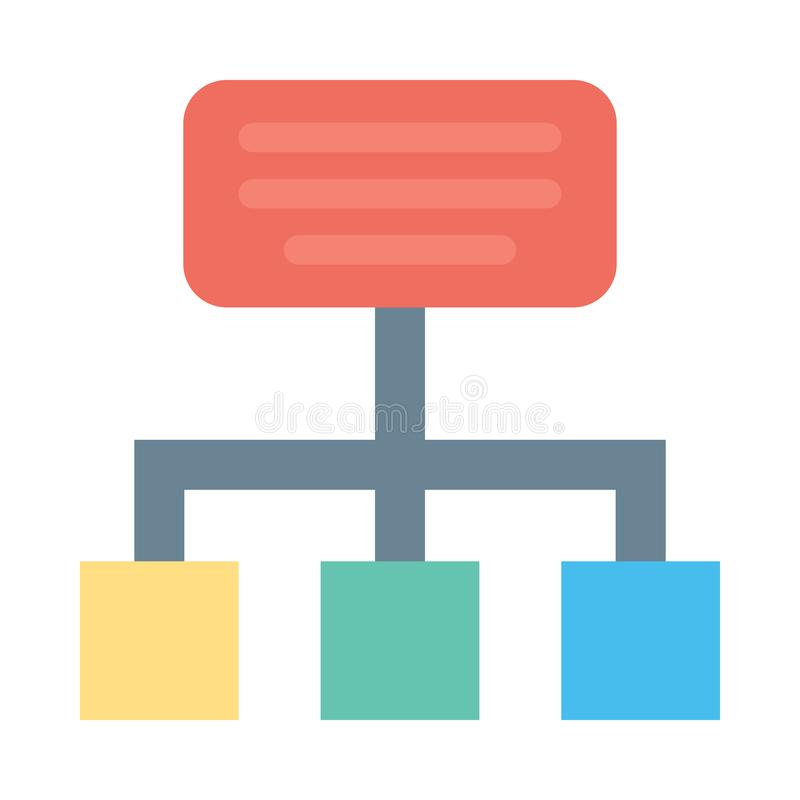 Hierarchy  Flat Vector icon isolated Graphic .Style in EPS 10 simple flat Icon element business & office concept. Hierarchy  flat vector icon. isolated simple royalty free illustration