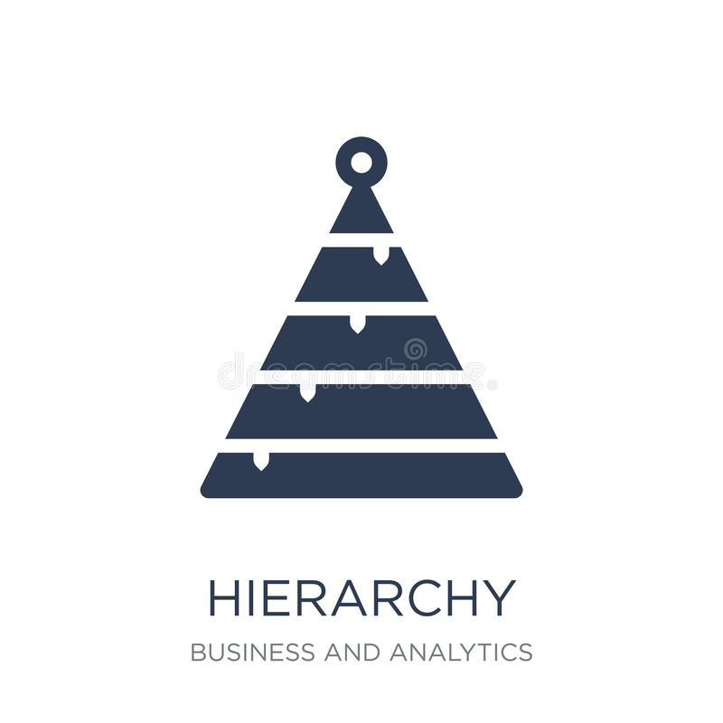 Hierarchy icon. Trendy flat vector Hierarchy icon on white background from Business and analytics collection stock illustration