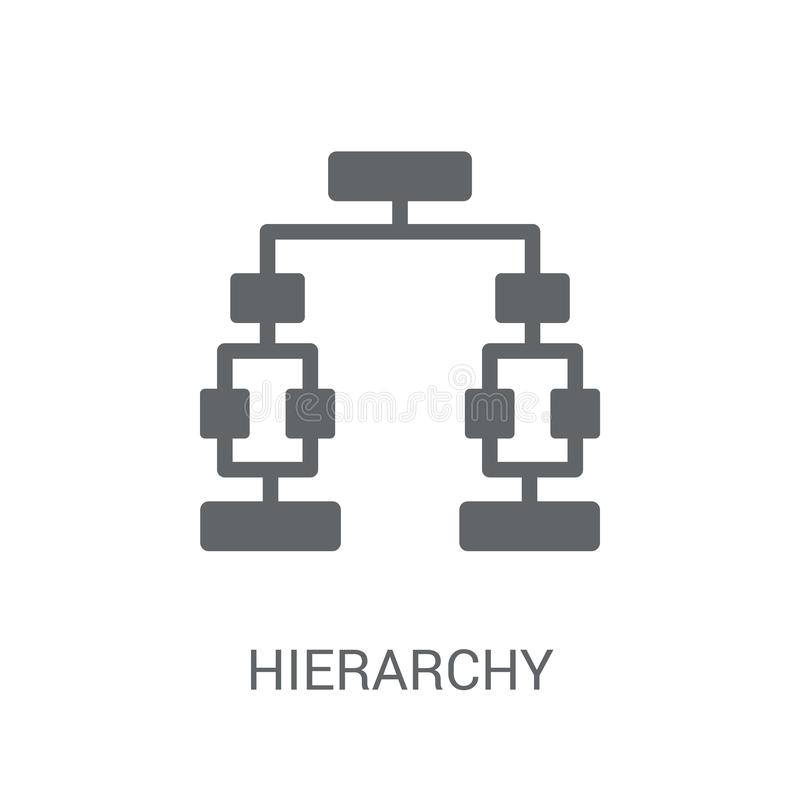 Hierarchy icon. Trendy Hierarchy logo concept on white background from Business and analytics collection royalty free illustration