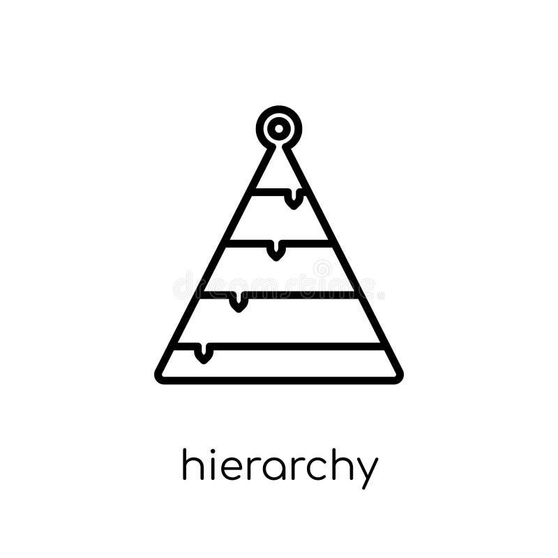 Hierarchy icon. Trendy modern flat linear vector Hierarchy icon vector illustration