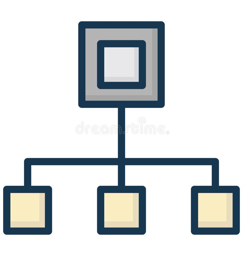 Hierarchy Isolated Vector Icon That can be easily Modified or Edited. stock illustration