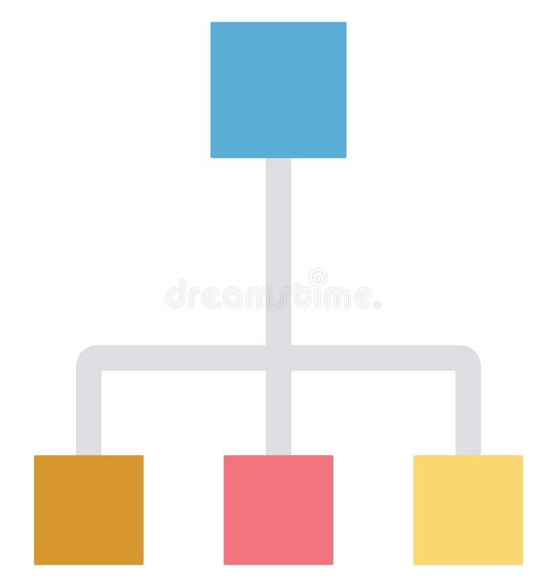 Hierarchy, network, Isolated Vector icons that can be easily modified or edit royalty free illustration