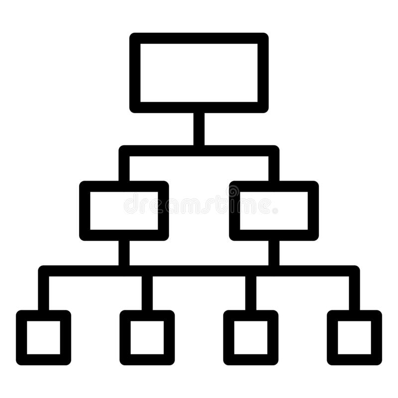 Hierarchy, networking Vector Icon which can easily modify royalty free illustration