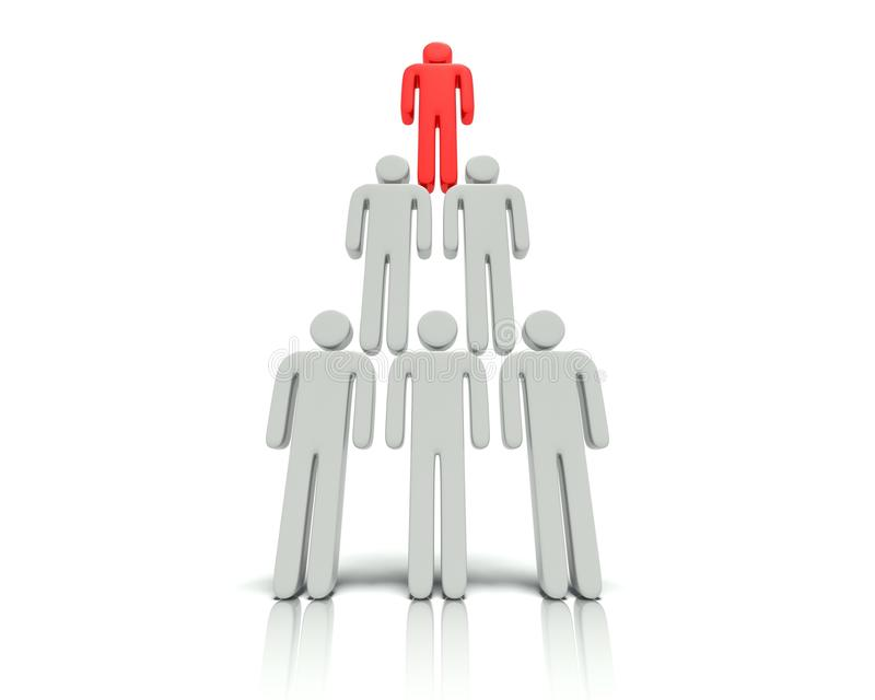 Download Hierarchy of people. stock illustration. Illustration of built - 31905064
