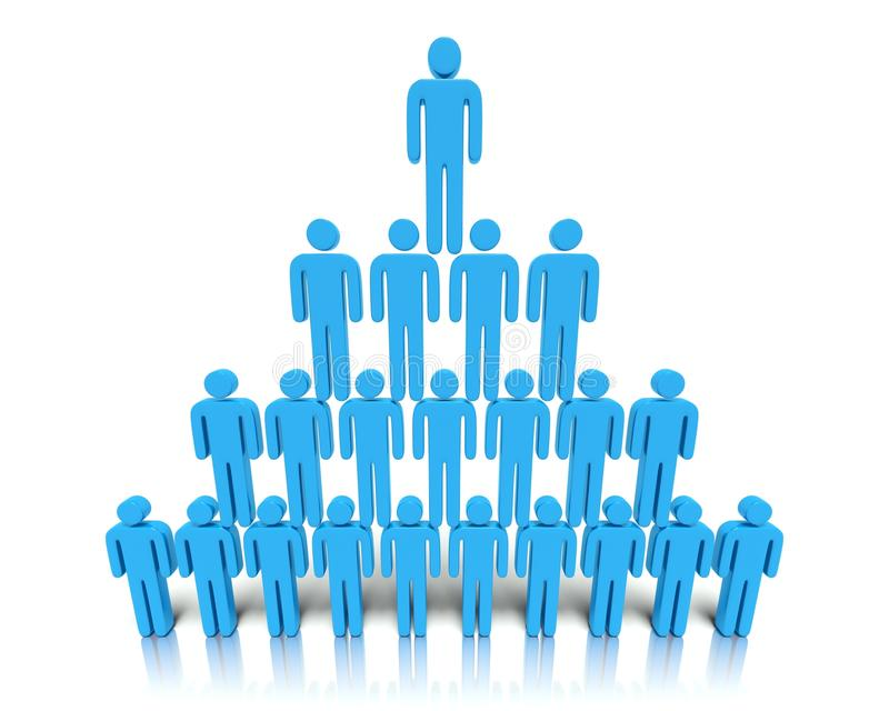 Hierarchy Of People. Stock Photo