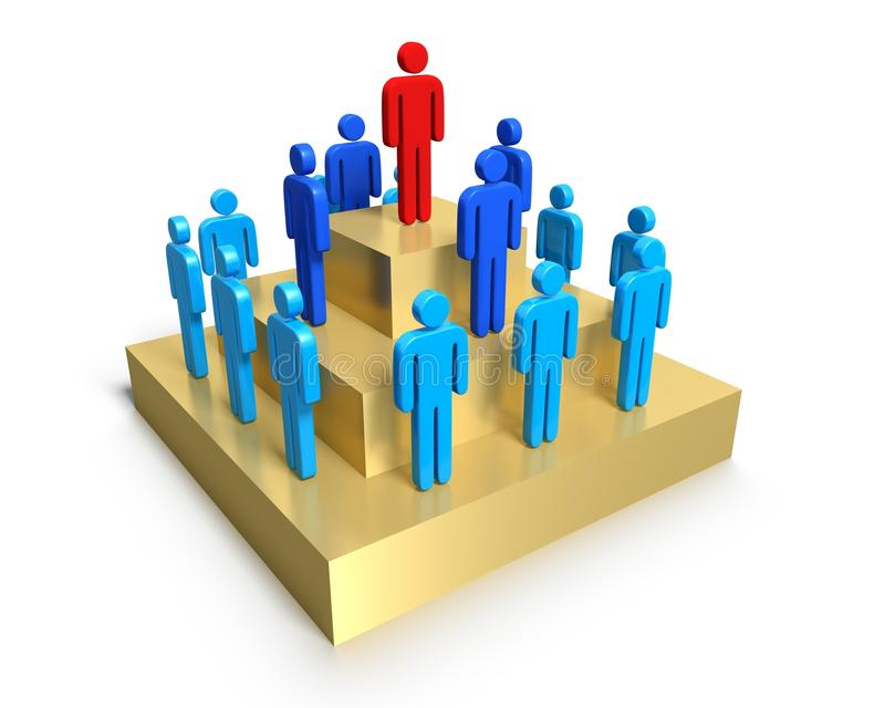 Download Hierarchy Of People On Pedestal. Stock Illustration - Image: 31905058