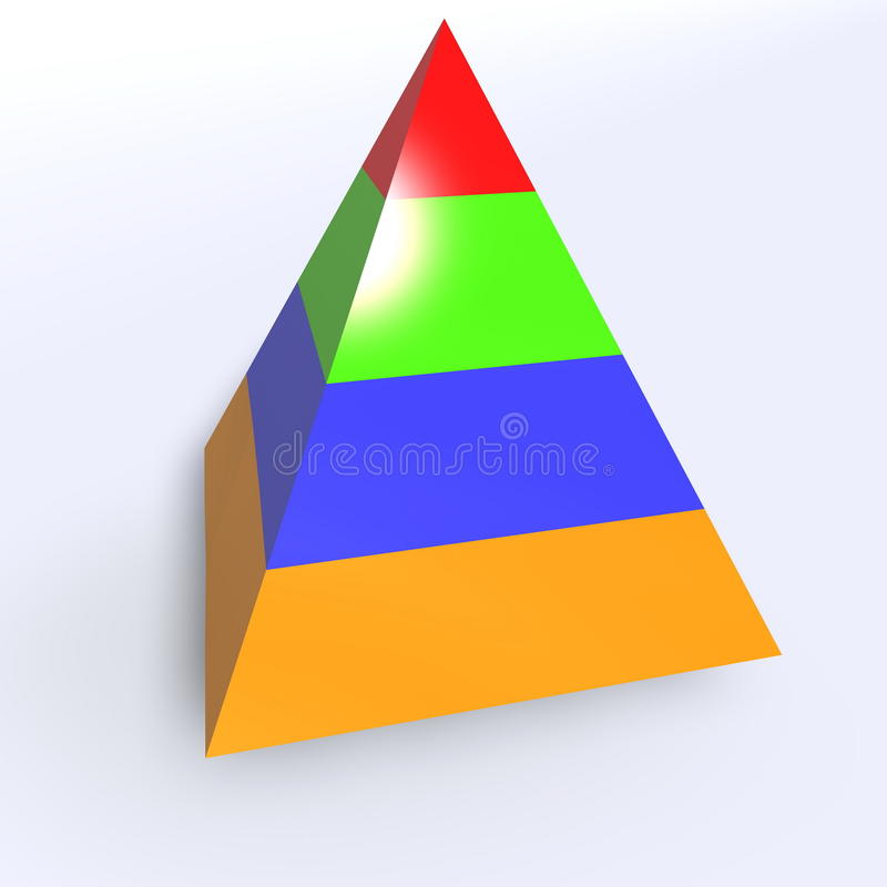 Download Hierarchy pyramid stock illustration. Illustration of chart - 10093746
