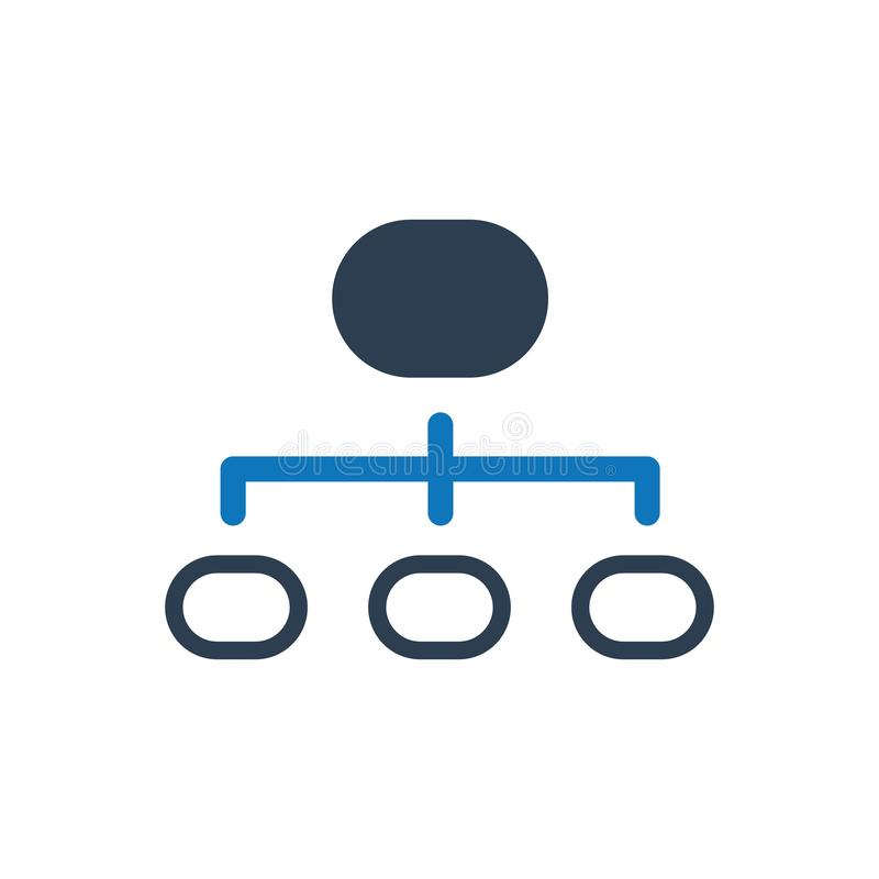 Hierarchy structure icon. Simple Illustration Of A Hierarchy structure icon vector illustration
