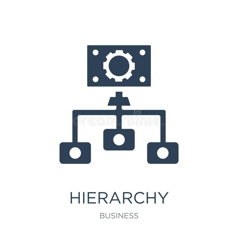 hierarchy structure icon in trendy design style. hierarchy structure icon isolated on white background. hierarchy structure vector royalty free illustration