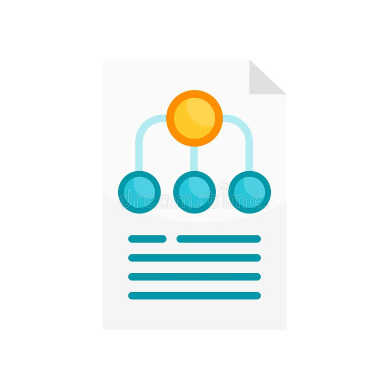 Hierarchy structure icon vector sign and symbol isolated on whit vector illustration