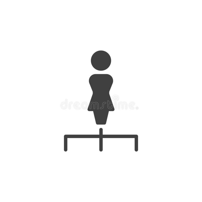 Hierarchy structure vector icon stock illustration