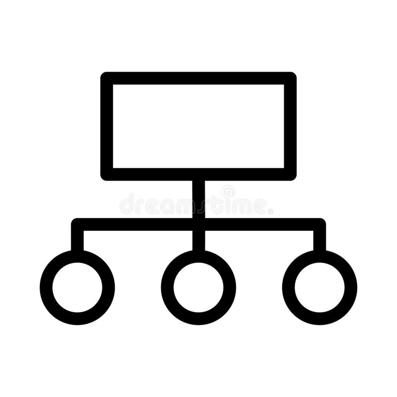 Hierarchy thin line vector icon royalty free illustration